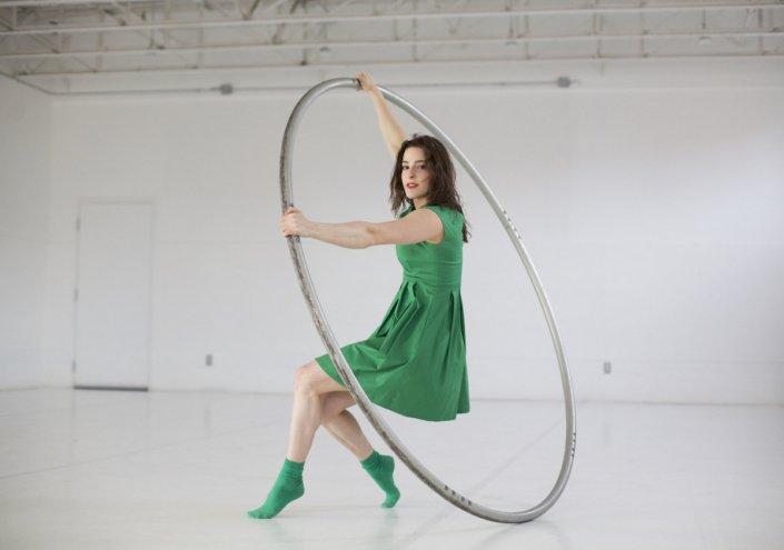 French female Cyr Wheel artist