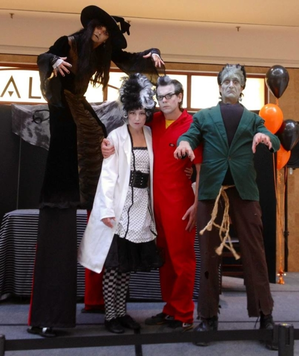 Halloween Stilts witch Frankenstein dracula