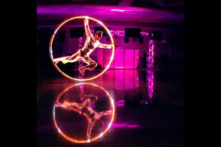 LED illuminated Cyr Wheel