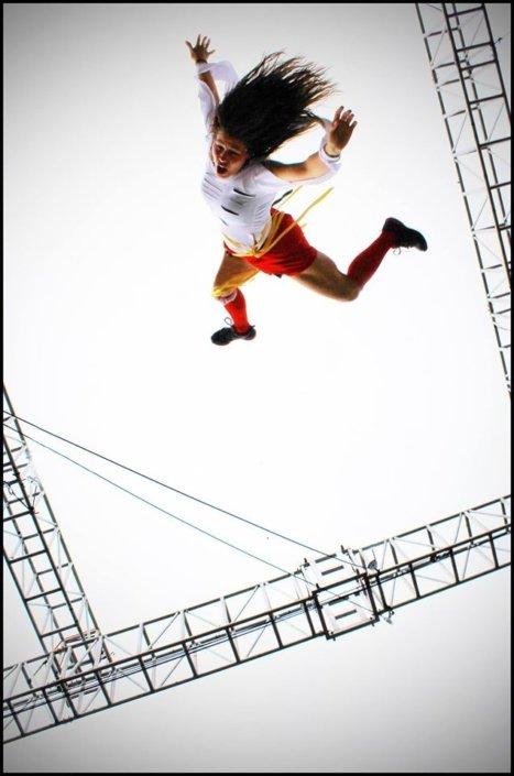 Bungee aerialist