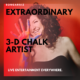 Extraordinary Chalk artist event launches
