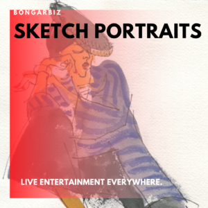 Illustrated sketch portraits for events