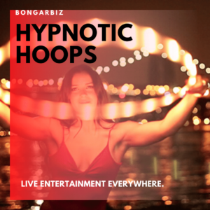 Hynotic LED and fire hula hoops